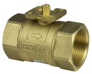 2-way cut-off ball valve with female thread, PN 40